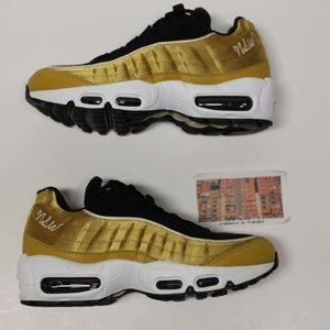 Nike Air Max 95 Satin Black Gold AA1103 700 1